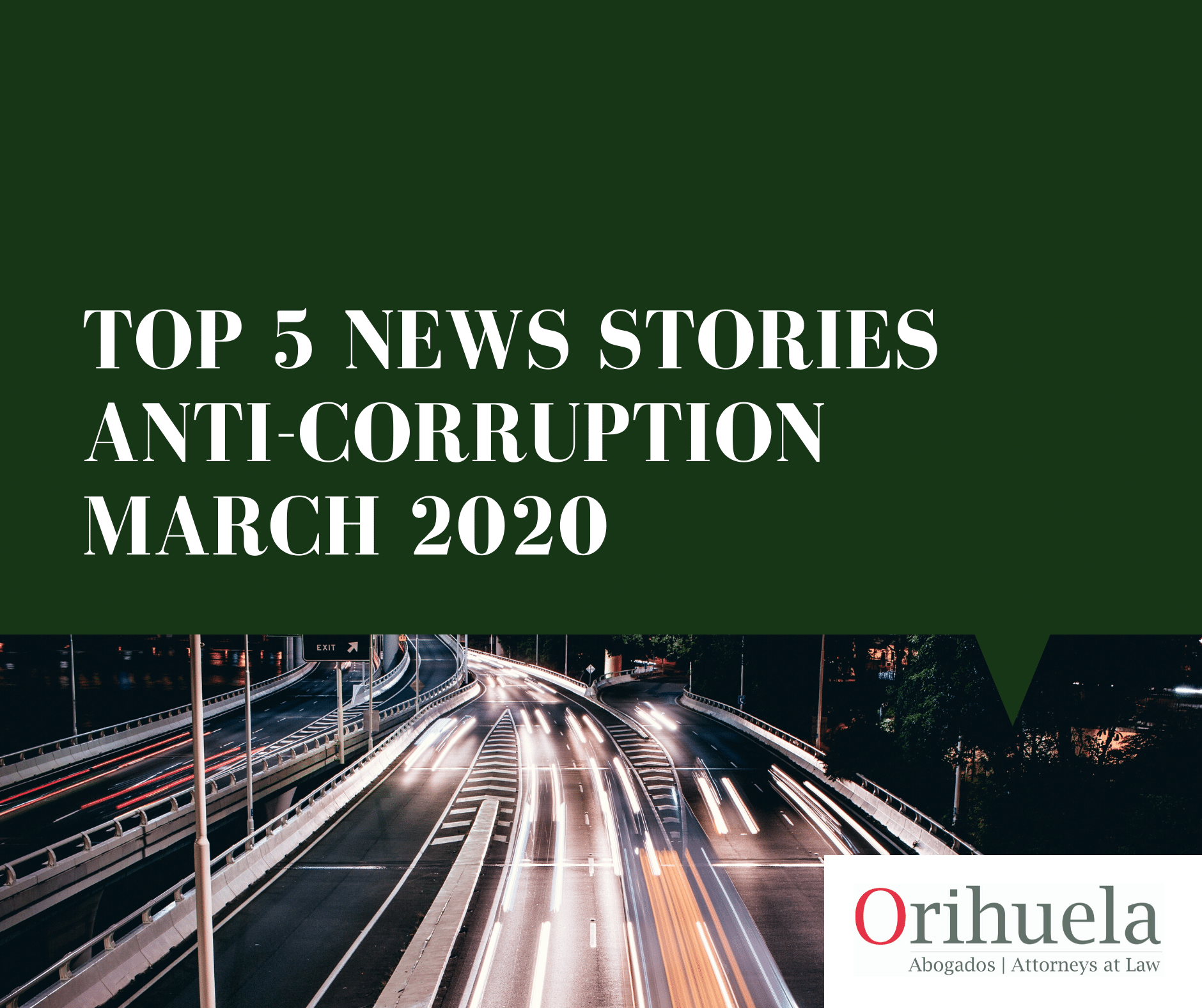 Our top 5 anti-corruption news stories – March 2020